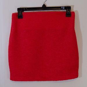 BCBG Red textured Mini Skirt
